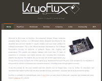 Screenshot of the KryoFlux Home page